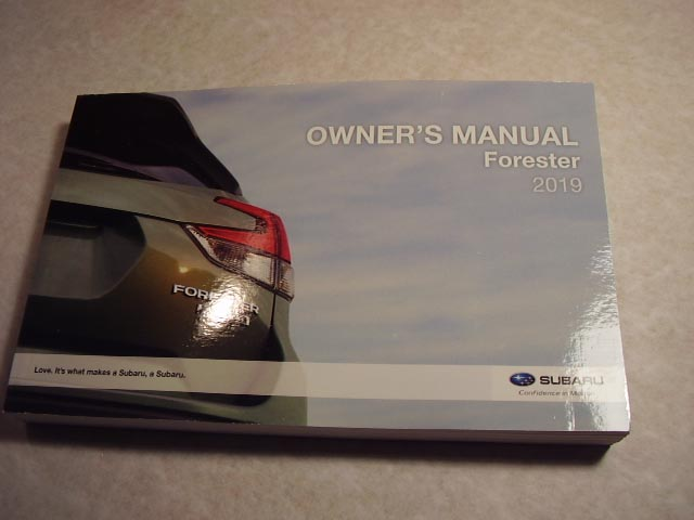 2019 Subaru Forester Owners Manual
