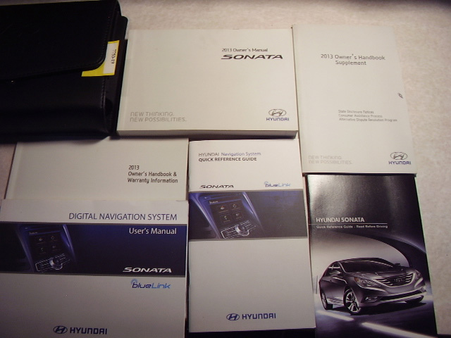 2013 Hyundai Sonata with navigation supplement Owners Manual
