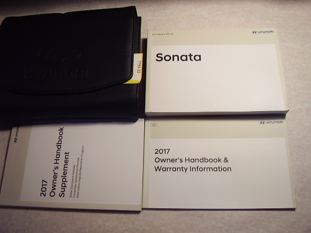 2017 Hyundai Sonata Owners Manual