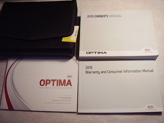 2015 Kia Optima Owners Manual