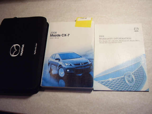 2008 Mazda CX-7 Owners Manual
