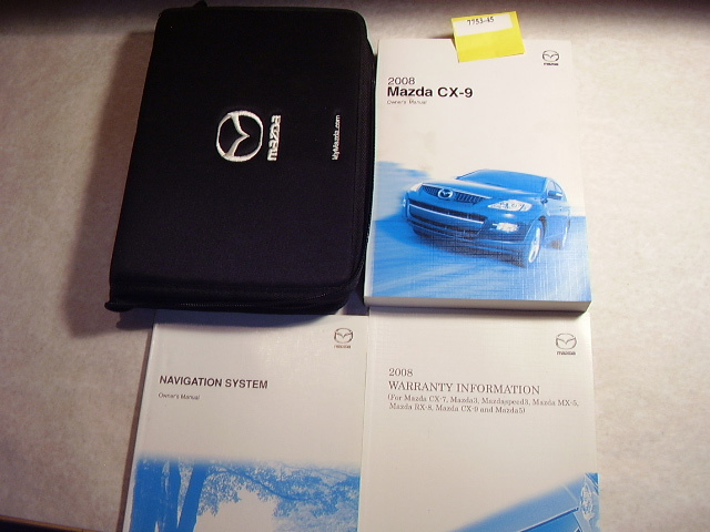 2008 Mazda CX-9 with navigation supplement Owners Manual