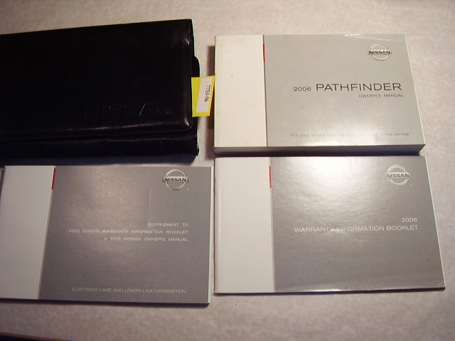 2006 Nissan Pathfinder Owners Manual