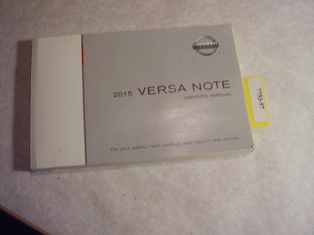 2015 Nissan Versa Note Owners Manual