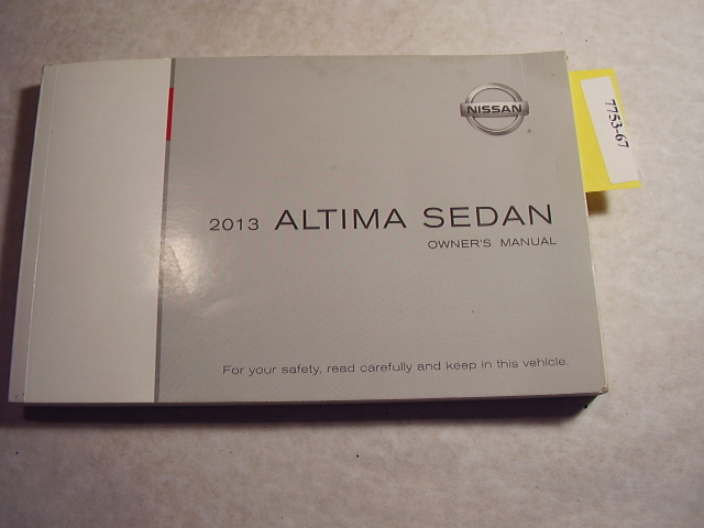 2013 Nissan Altima Sedan Owners Manual