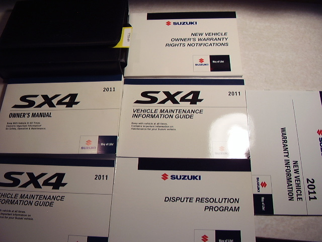 2011 Suzuki SX-4 Owners Manual