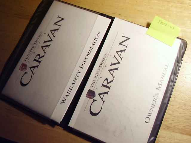1995 Dodge Caravan Owners Manuals