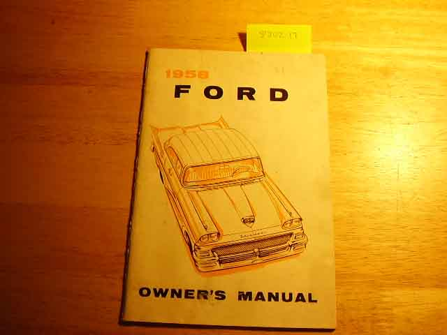 1958 Ford All Owners Manuals
