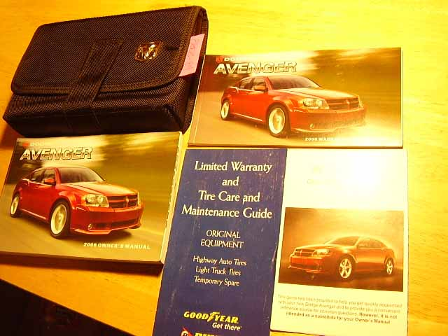 2008 Dodge Avenger Owners Manuals