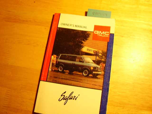 1989 GMC Safari Owners Manual