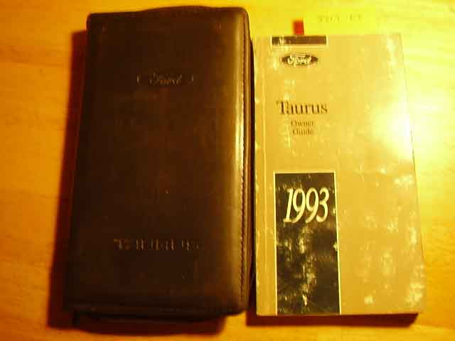 1993 Ford Taurus Owners Manuals