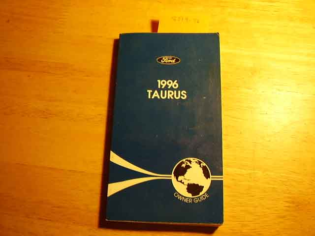 1996 Ford Taurus Owners Manuals