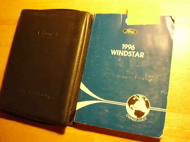 1996 Ford Windstar Owners Manuals