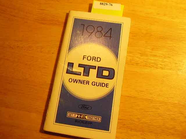 1984 Ford LTD Owners Manuals