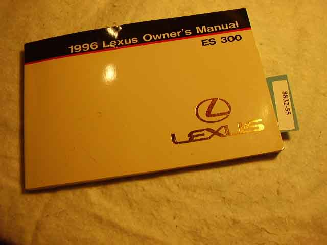 1996 Lexus ES300 Owners Manual