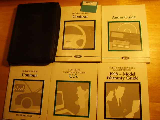 1998 Ford Contour Owners Manuals