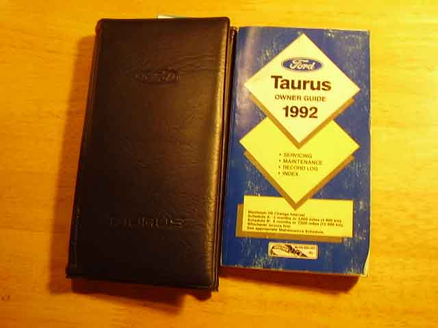 1992 Ford Taurus Owners Manuals