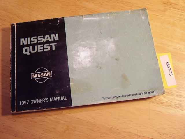 1997 Nissan Quest Owners Manual