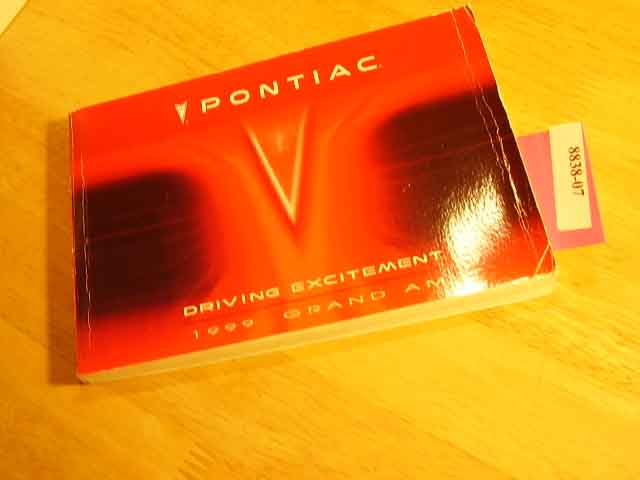 1999 Pontiac Grand Am Owners Manual