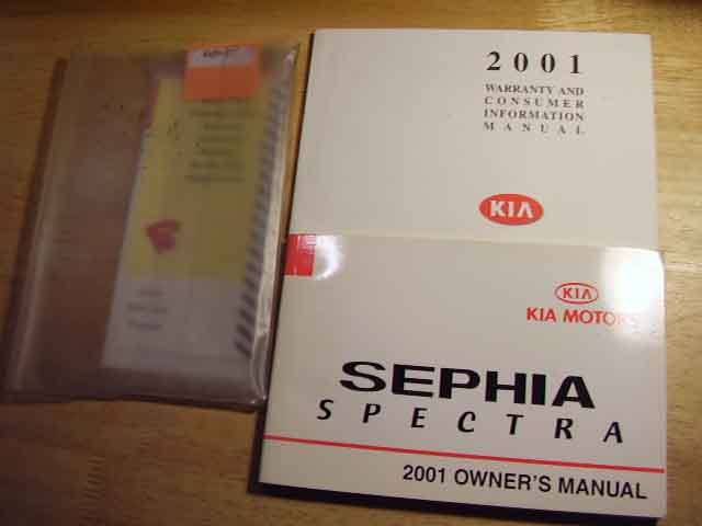 2001 Kia Sephis Spectra Owners Manual