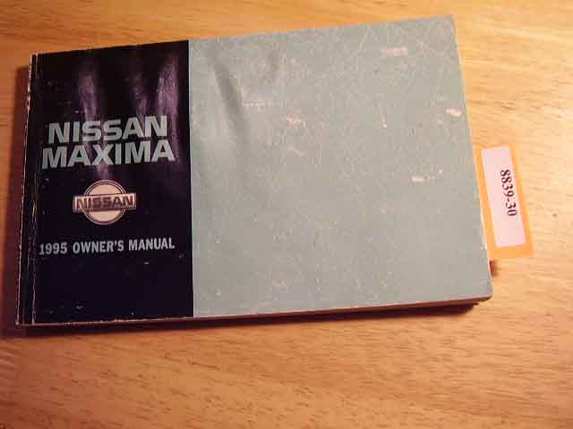 1995 Nissan Maxima Owners Manual