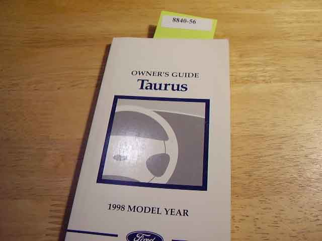 1998 Ford Taurus Owners Manuals