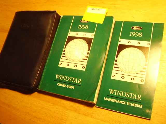 1998 Ford Windstar Owners Manuals