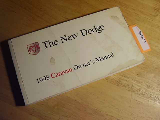 1998 Dodge Caravan Owners Manuals