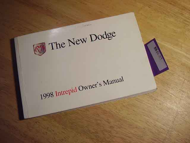 1998 Dodge Intrepid Owners Manuals