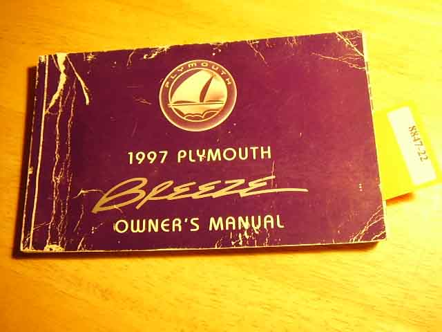 1997 Plymouth Breeze Owners Manual
