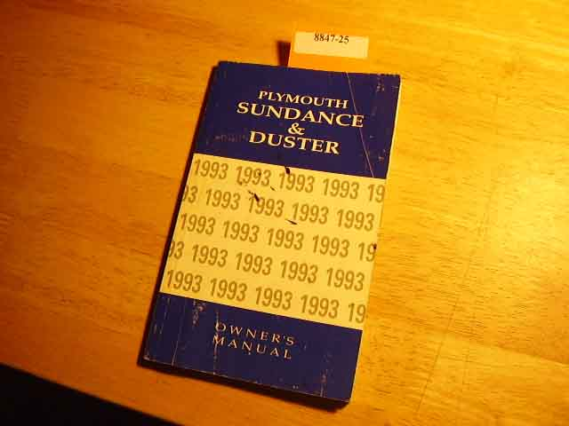 1993 Plymouth Sundance and Duster Owners Manual