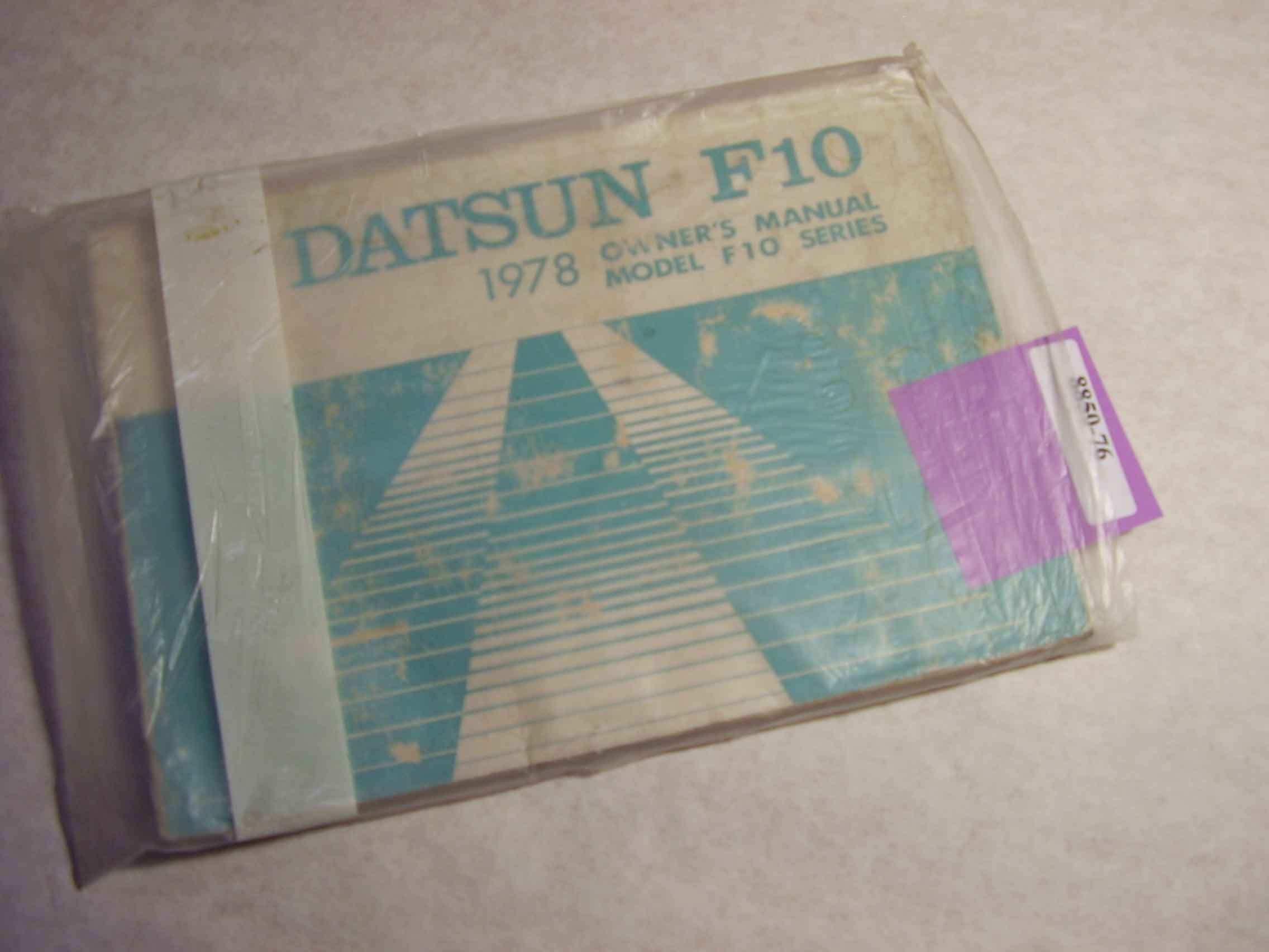 1978 Datsun F10 Owners Manual