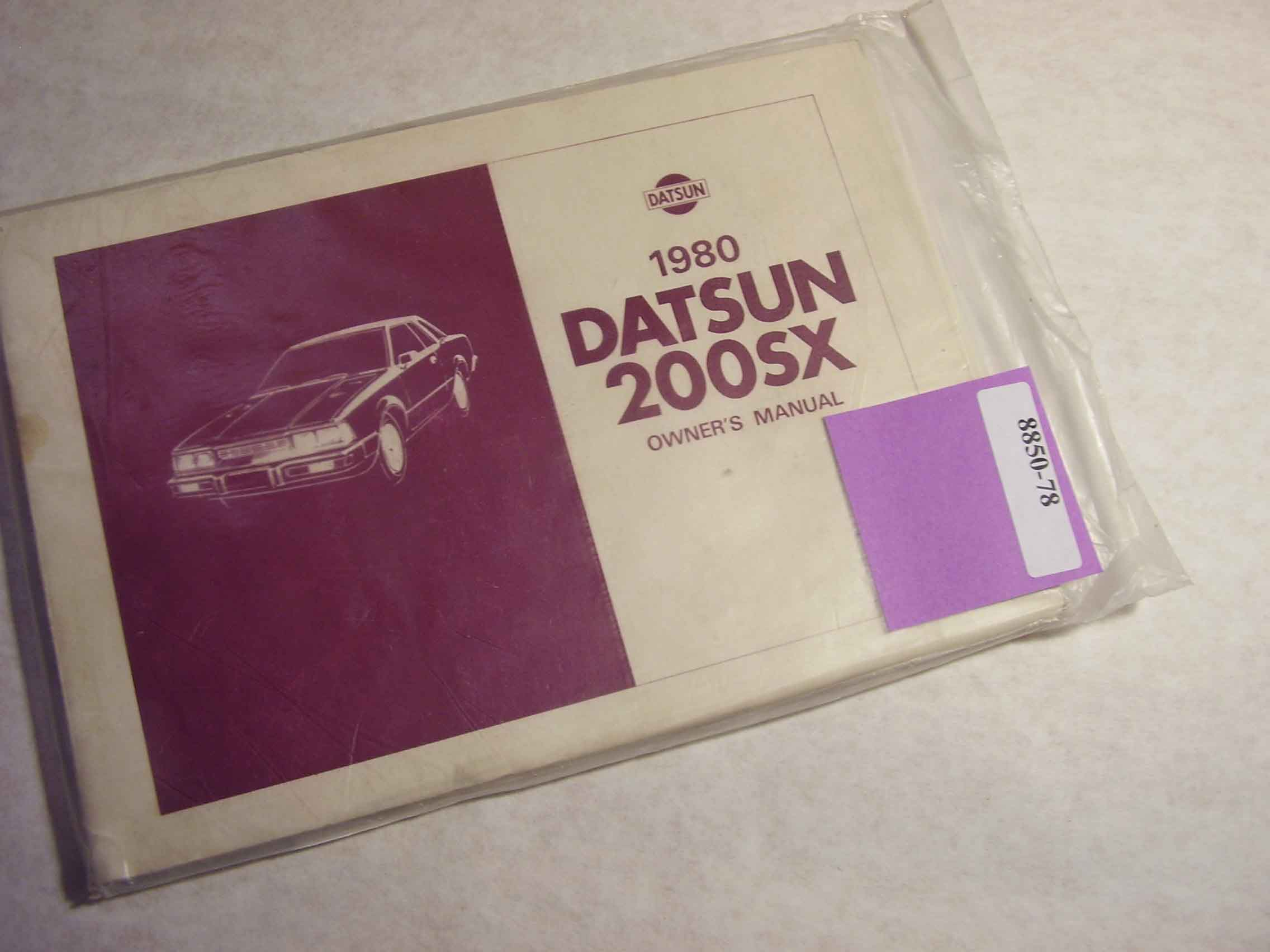 1980 Datsun 200SX Owners Manual