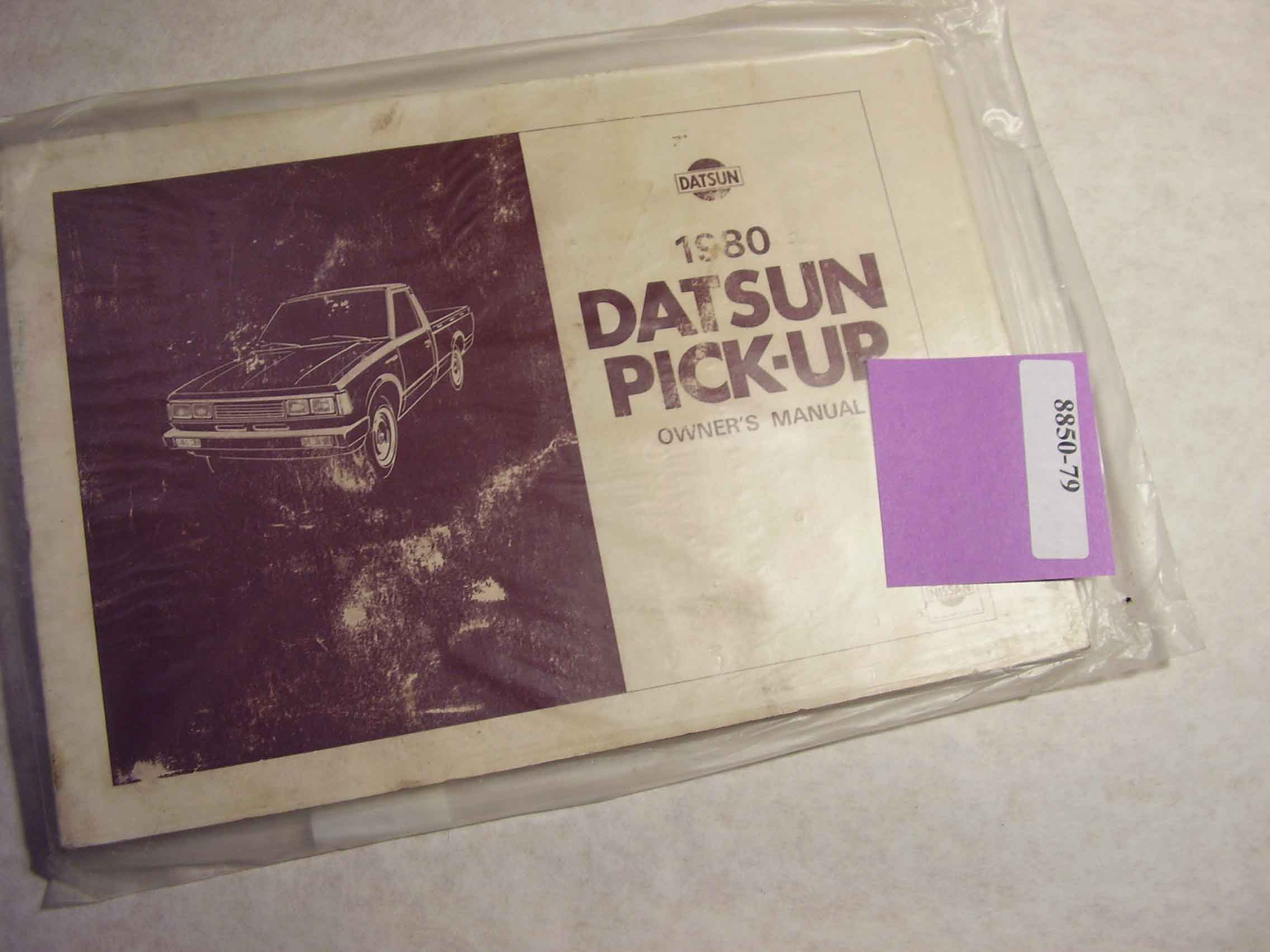 1980 Datsun Pick Up Owners Manual