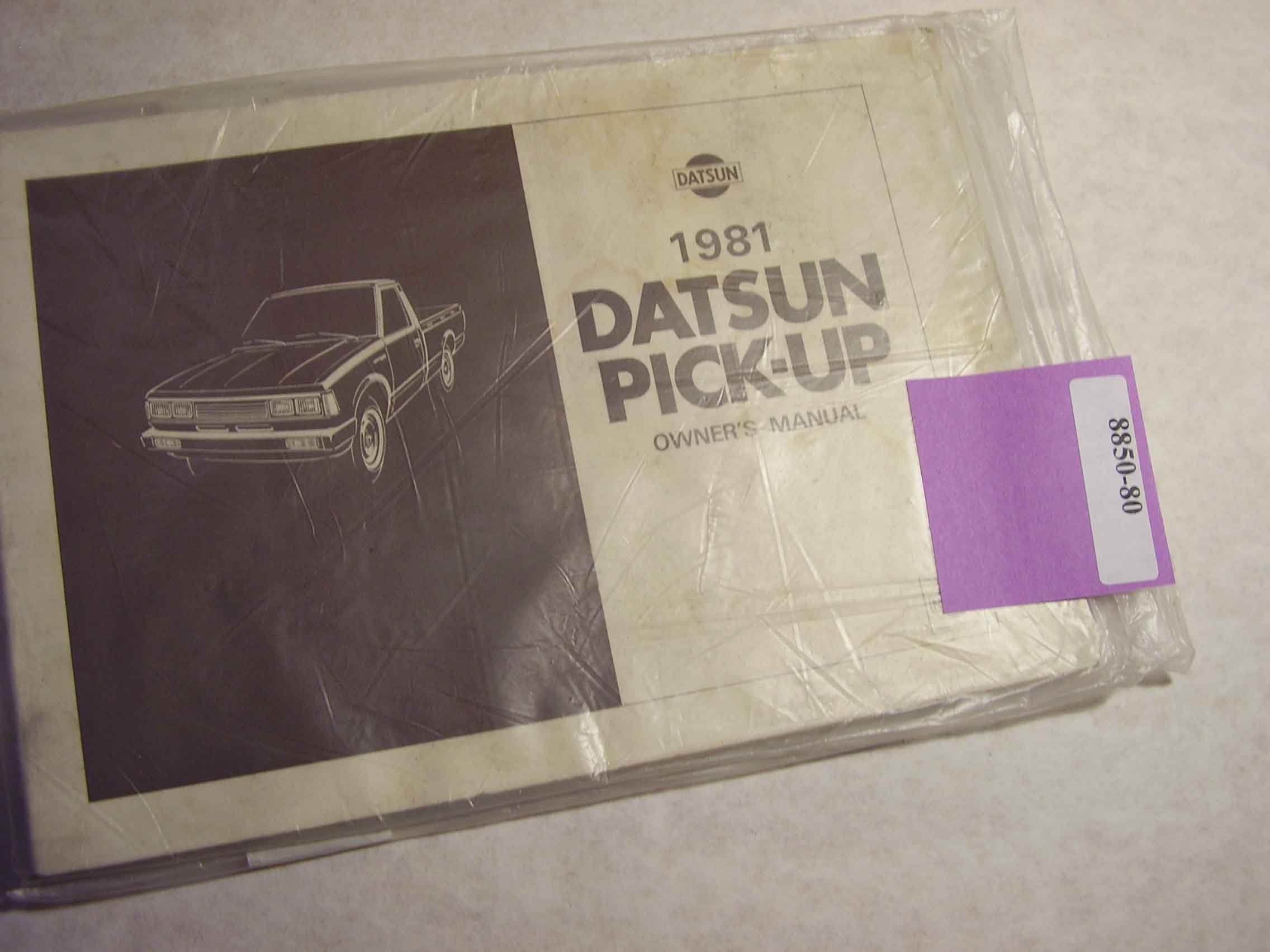 1981 Datsun Pick Up Owners Manual