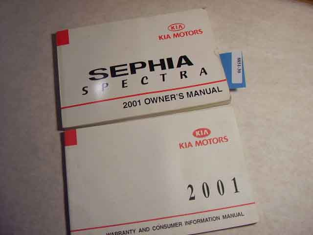 2001 Kia Sephia Spectra Owners Manual