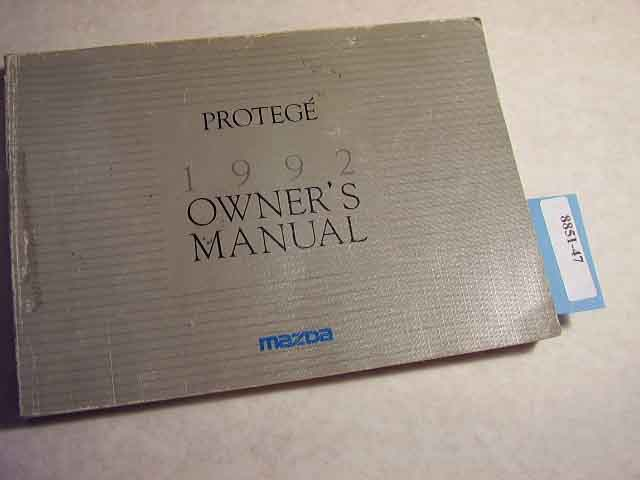 1992 Mazda Protege Owners Manual