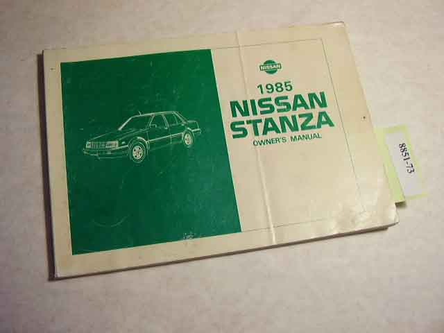1985 Nissan Stanza Owners Manual