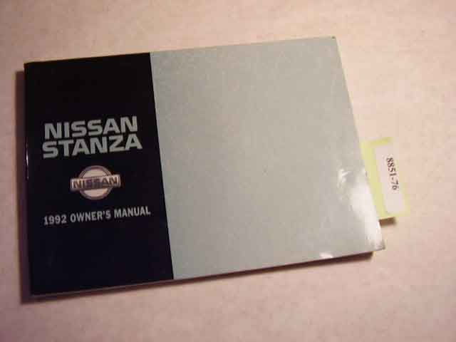1992 Nissan Stanza Owners Manual