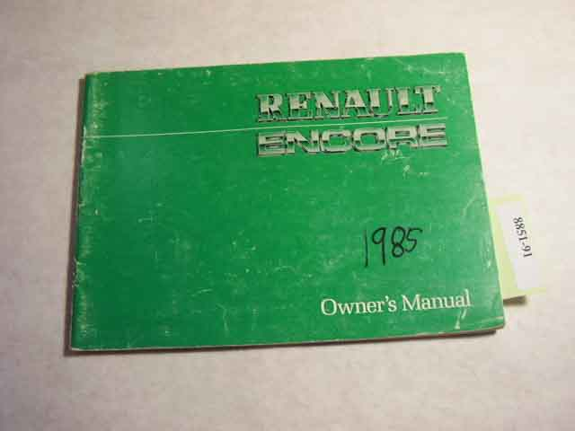 1985 Renault Encore Owners Manual