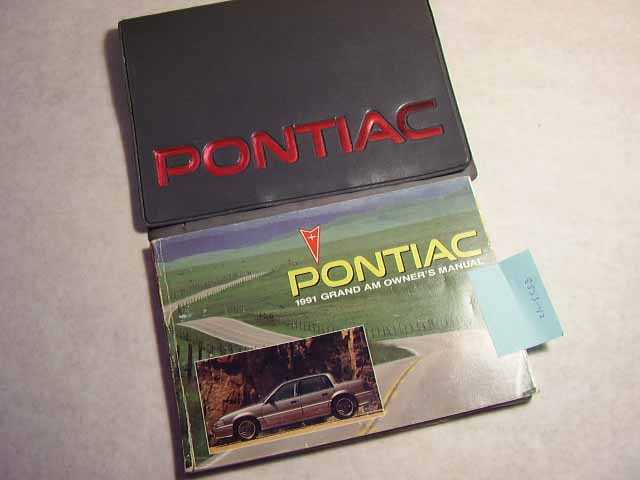 1991 Pontiac Grand Am Owners Manual