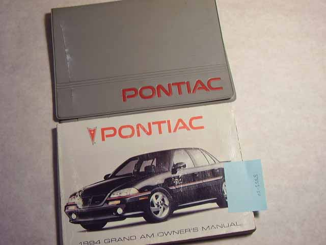 1994 Pontiac Grand Am Owners Manual