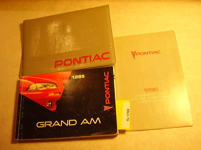 1995 Pontiac Grand Am Owners Manual
