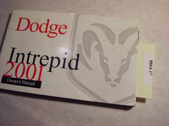 2001 Dodge Intrepid Owners Manuals