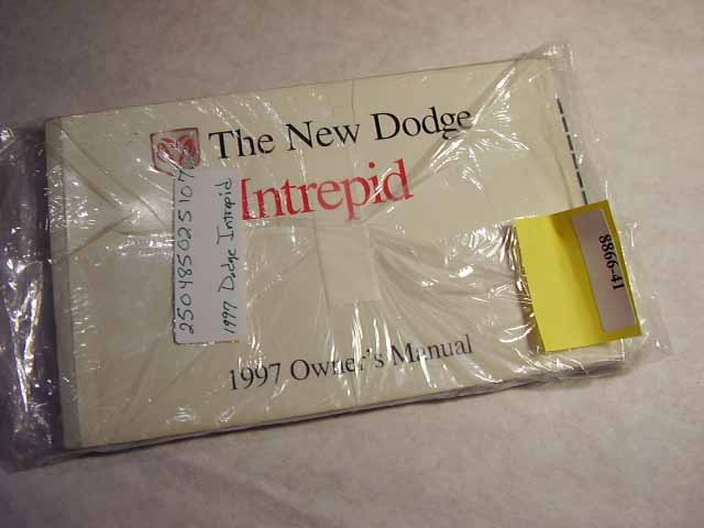 1997 Dodge Intrepid Owners Manuals