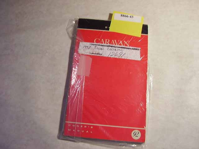 1992 Dodge Caravan Owners Manuals