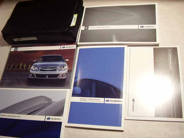 2009 Subaru Legacy Outback Owners Manual