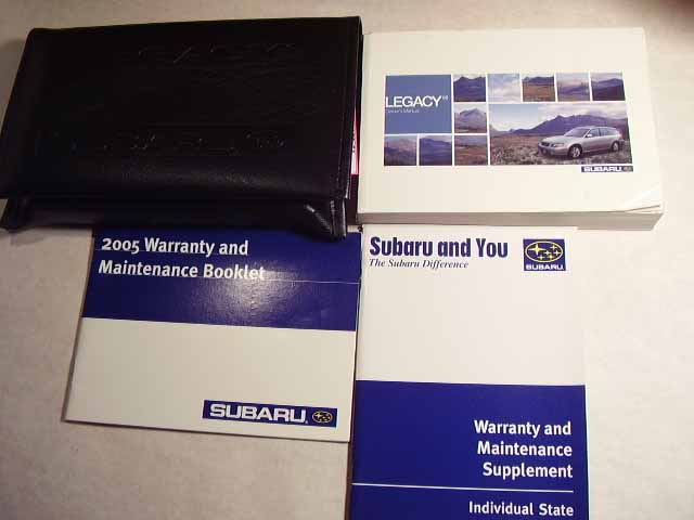 2005 Subaru Legacy Owners Manual