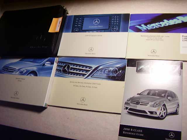 2008 Mercedes R Class Owners Manual