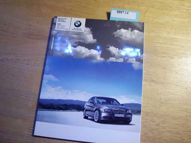 2006 BMW 3 Series warranty manual only Owners Manual